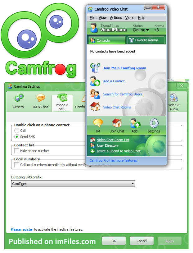 register camfrog online