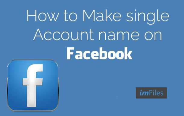 Create facebook account with single or blank name in 2016